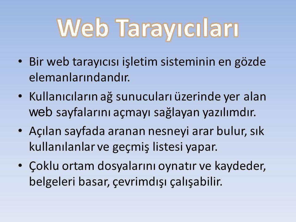 Bir web tarayıcısı işletim sisteminin en gözde elemanlarındandır.