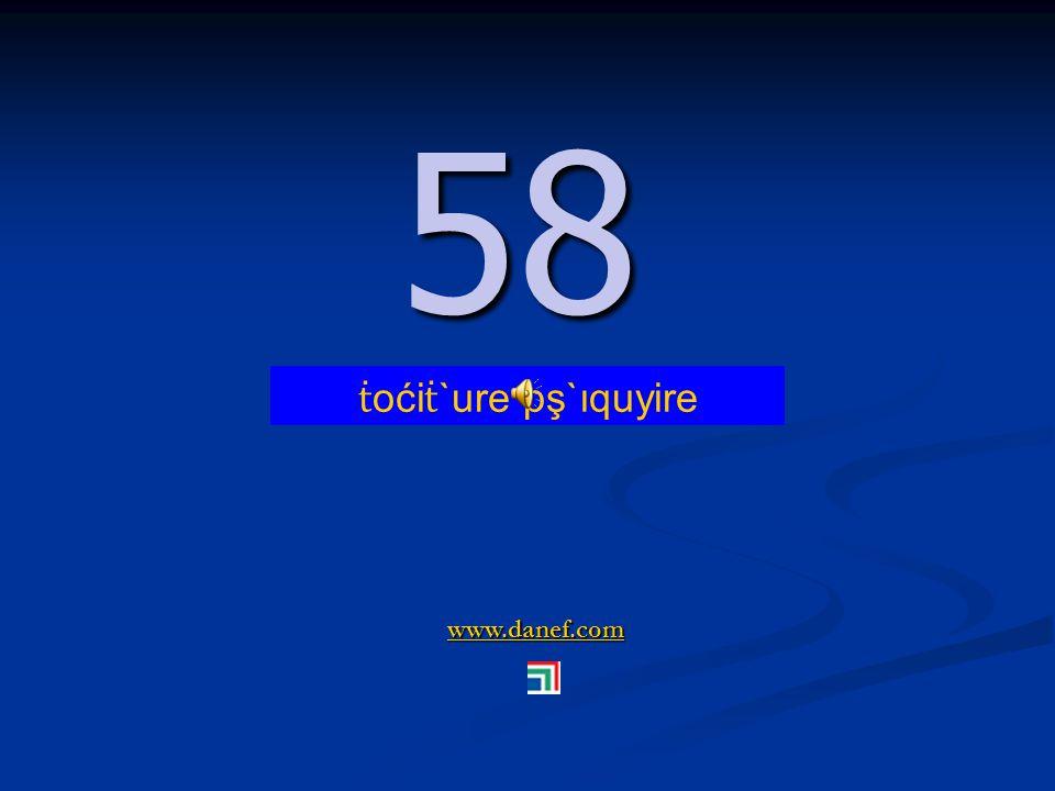 www.danef.com 57 57 ṫ oći ṫ `ure pş`ıqublıre