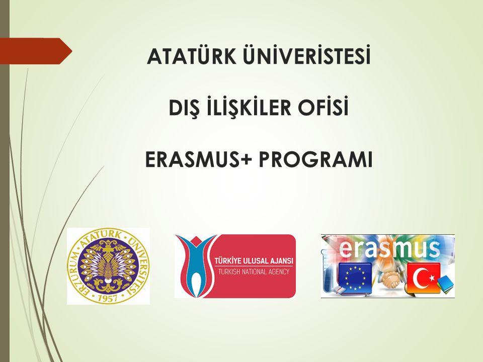 ATATÜRK ÜNİVERİSTESİ DIŞ İLİŞKİLER OFİSİ ERASMUS+ PROGRAMI