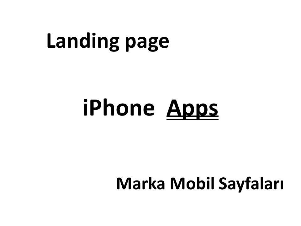 iPhone Apps Landing page Marka Mobil Sayfaları