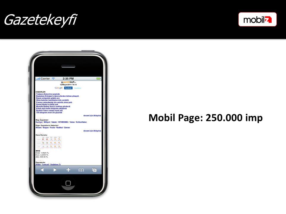 Gazetekeyfi Mobil Page: 250.000 imp