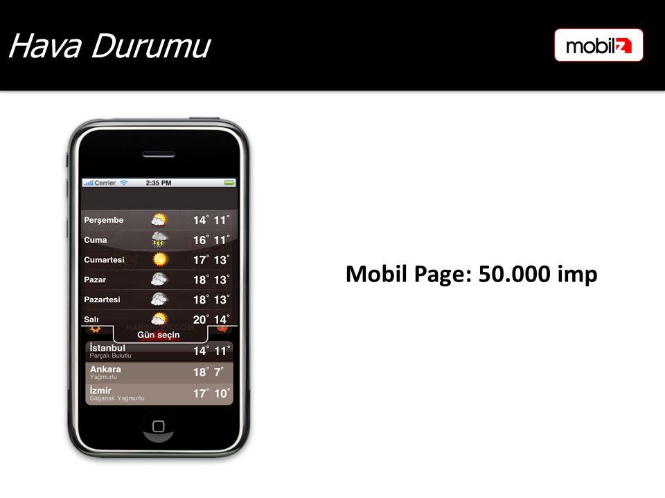 Hava Durumu Mobil Page: 50.000 imp