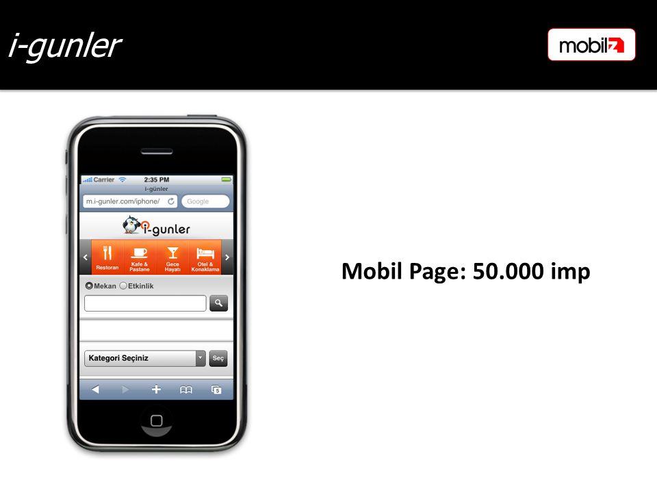 i-gunler Mobil Page: 50.000 imp
