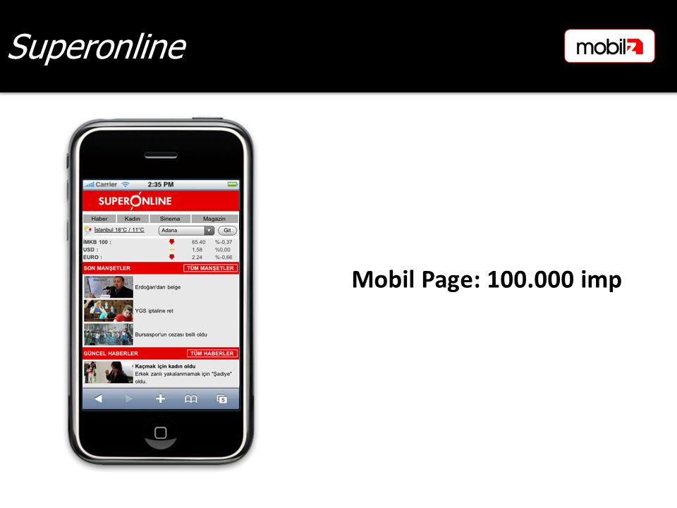 Superonline Mobil Page: 100.000 imp