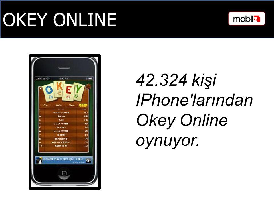 OKEY ONLINE 42.324 kişi IPhone larından Okey Online oynuyor.