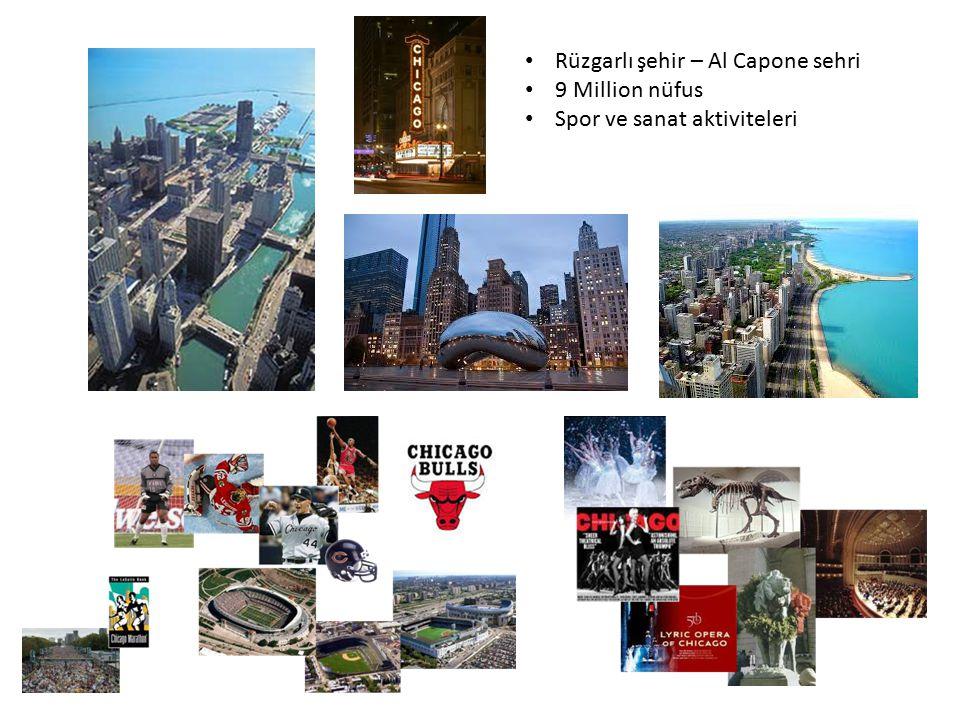 Rüzgarlı şehir – Al Capone sehri 9 Million nüfus Spor ve sanat aktiviteleri