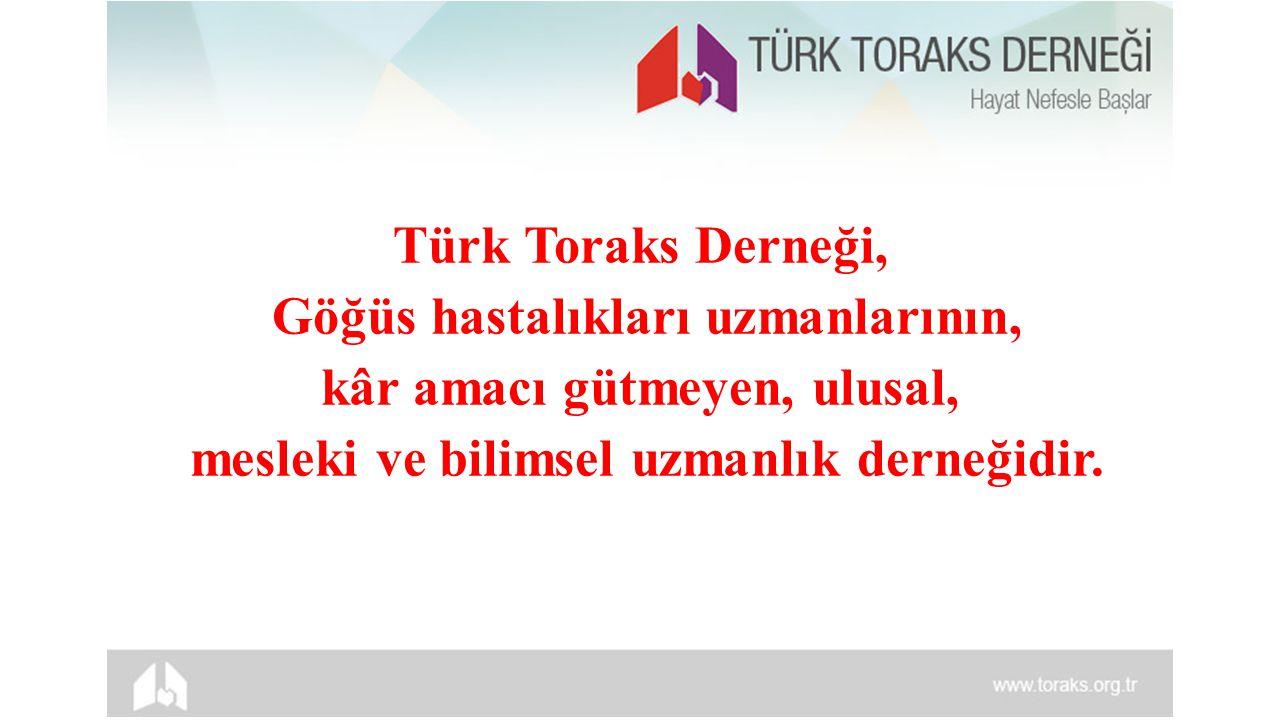 YAYINLAR Toraks Dergisi, Turkish Respiratory Journal, Toraks Kitapları, Toraks Eğitim Serisi, Toraks Bülteni