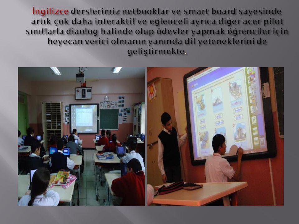  Özellikle DYNED eğitim programını işletme konusunda netbookların okul eğitimine katkısı çok büyüktür.