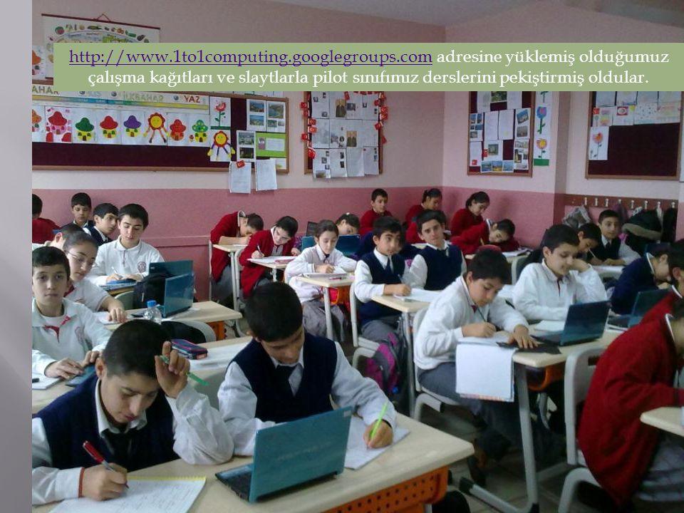 http://www.1to1computing.googlegroups.comhttp://www.1to1computing.googlegroups.com adresine yüklemiş olduğumuz çalışma kağıtları ve slaytlarla pilot s