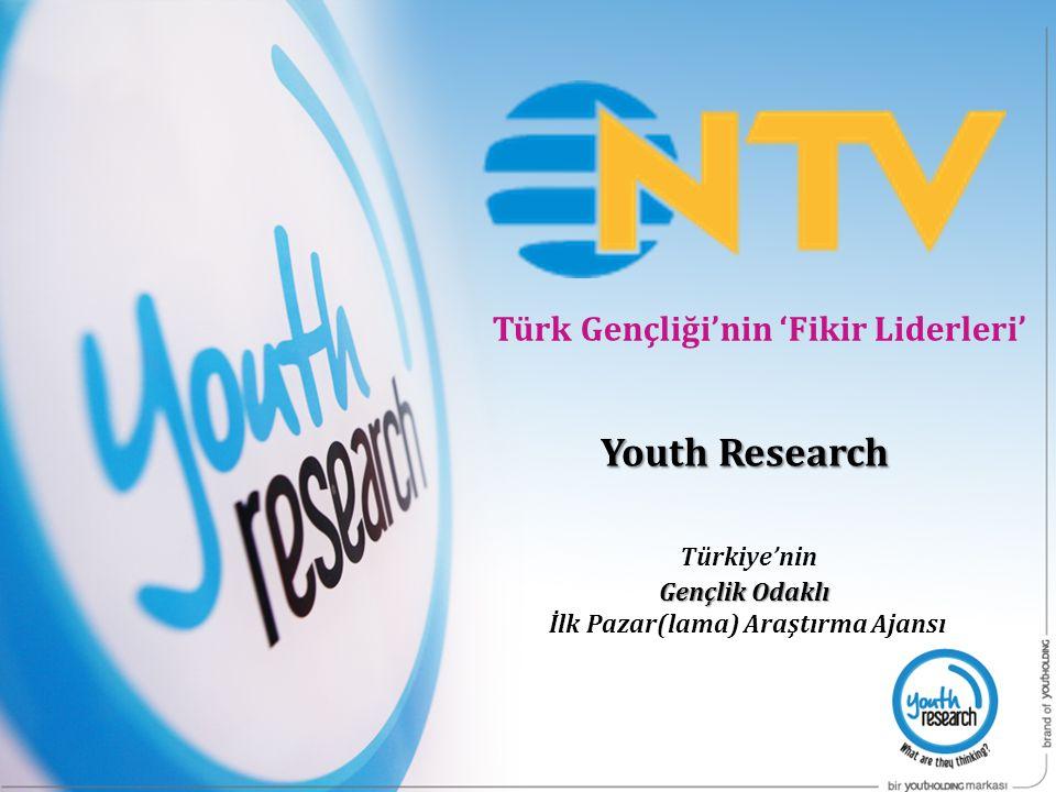 AMAÇ NTV ve NTVmsnbc & Youth Research'ün Türk Gençliği'ni hedef alan ortak çalışması ile Türk Gençliği'nin 'Fikir Liderleri' olarak konumlandırılma çalışmasının yapılması.