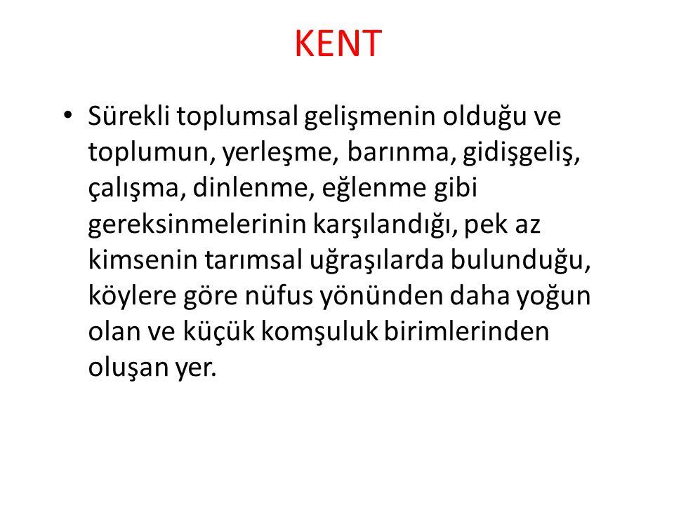 Kır-Kent Farkı I 1.