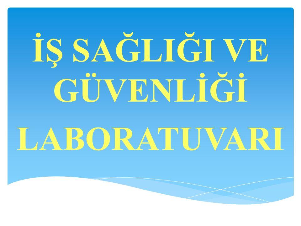 Laboratuvar Sorumlusu: Uz.Dr.Hakan TİMUR  Analistler: Vildan TÜRKMEN (Kimyager) Mustafa KOÇ (Kimyager) Sibel ATAGÜN (Biyolog)