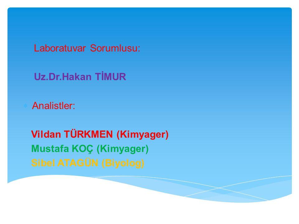  REAKTiFLER Nitrik Asit (HNO3) : 1,40 g/ml, M=63,01 g/mol; saflığı %65 olan HNO3 Deiyonize su: Örnek hazırlamada ve seyreltme işlemlerinde kullanılan deiyonize su ISO 3696 standardında belirtildiği gibi 1.sınıf olmalıdır.