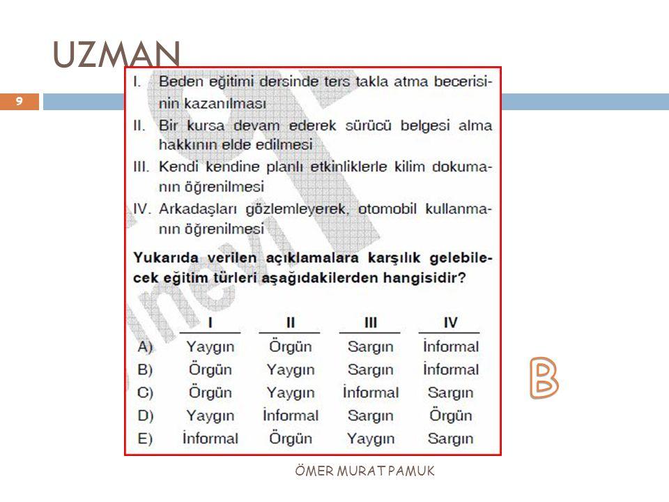UZMAN 9 ÖMER MURAT PAMUK