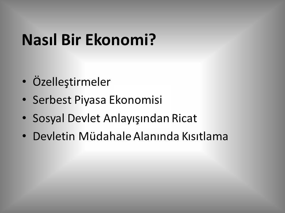 Nasıl Bir Ekonomi.