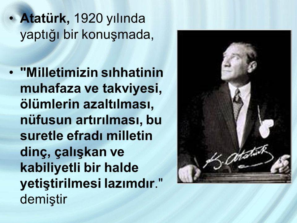 Atatürk, 1920 yılında yaptığı bir konuşmada,