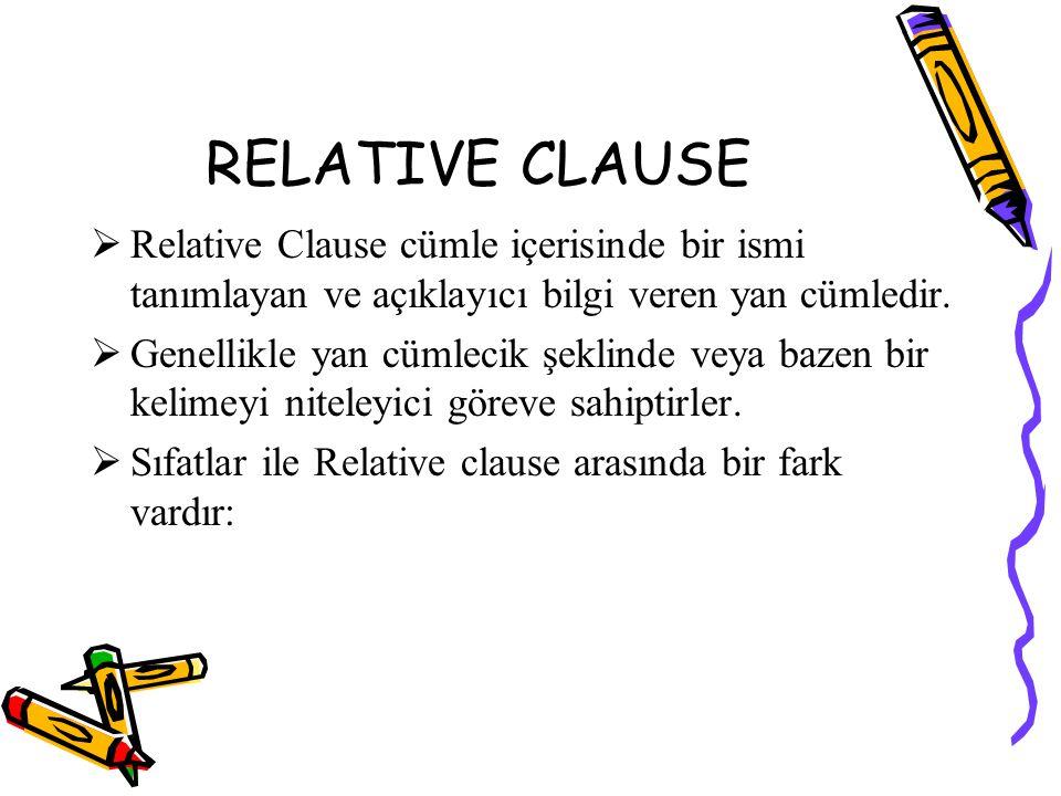  Bir relative clause u şu şekillerde kısaltabiliriz:  a) Present participle: the boy running, the people waiting...