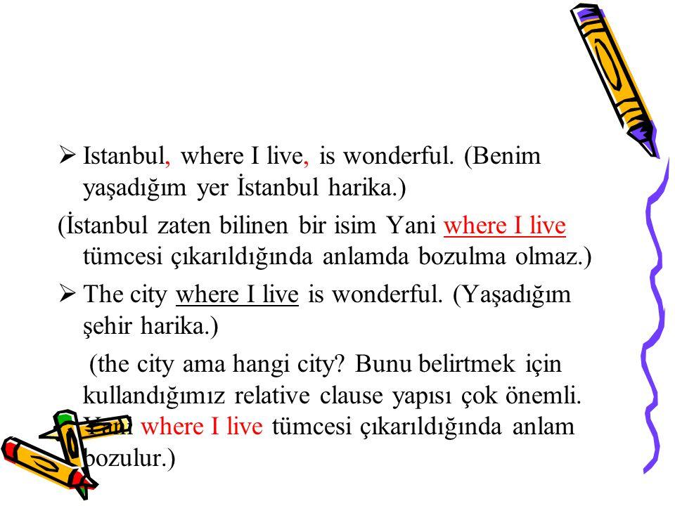  Istanbul, where I live, is wonderful.