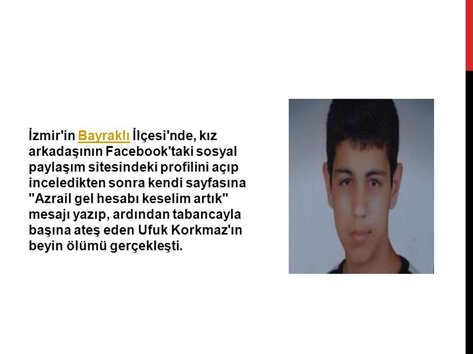 İzmir'in Bayraklı İlçesi'nde, kız arkadaşının Facebook'taki sosyal paylaşım sitesindeki profilini açıp inceledikten sonra kendi sayfasına