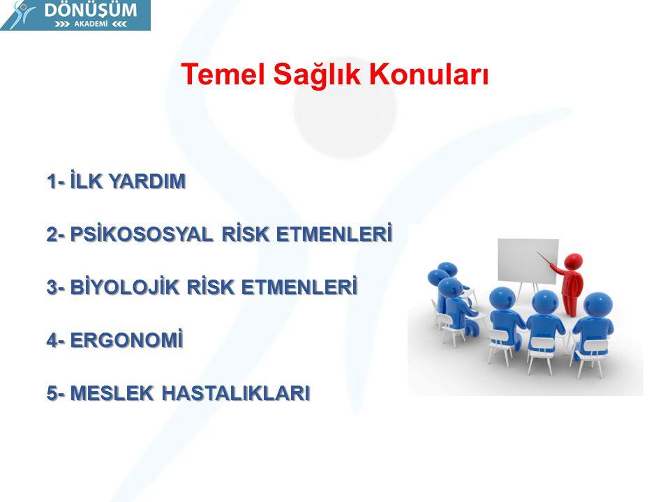 MESLEK HASTALIKLARI ETMENLERİ 1.