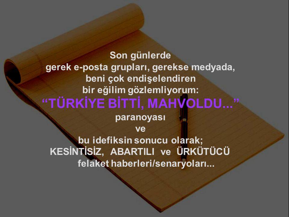 Adeta Türk'ü umutsuzluğa gömmek için hazırlanmış bir KOMPLO bu...