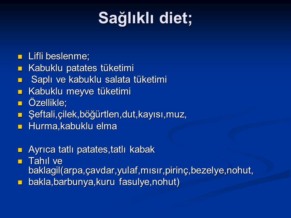 Sağlıklı diet; Lifli beslenme; Lifli beslenme; Kabuklu patates tüketimi Kabuklu patates tüketimi Saplı ve kabuklu salata tüketimi Saplı ve kabuklu sal