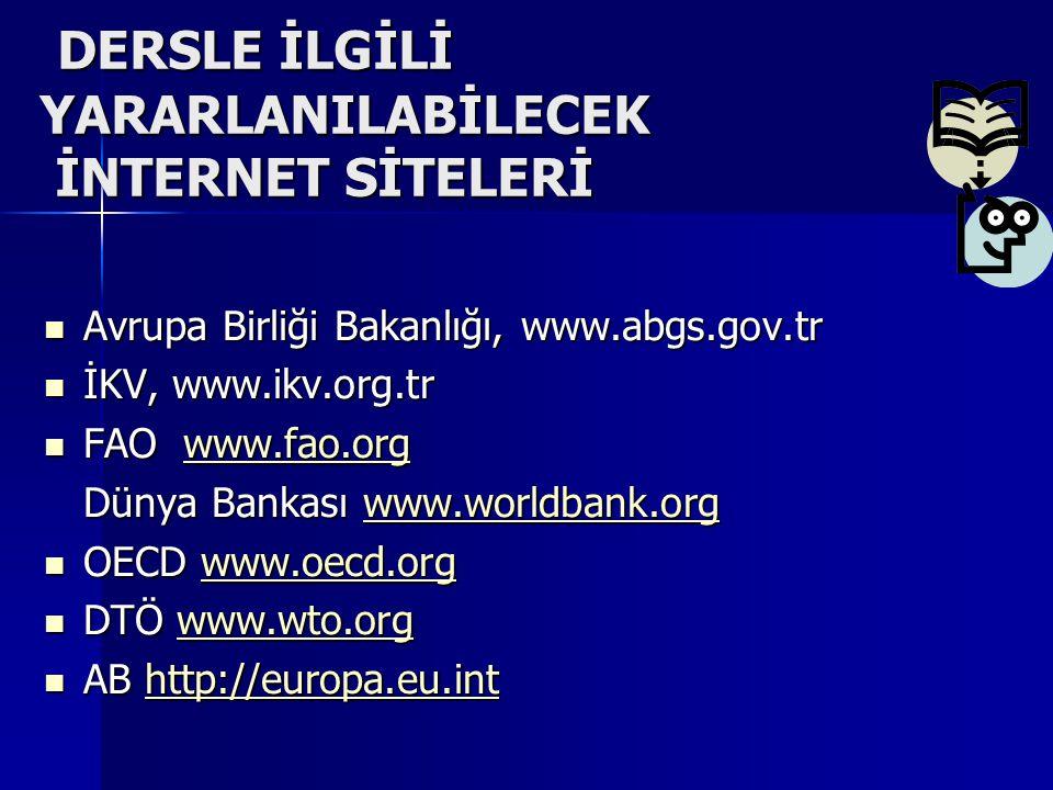 TARIM POLİTİKASI II DERSİ SUNUM ÖDEVLERİ