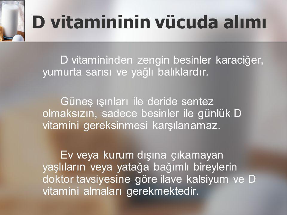 D vitamini yetersizliğine kimlerde rastlanır.
