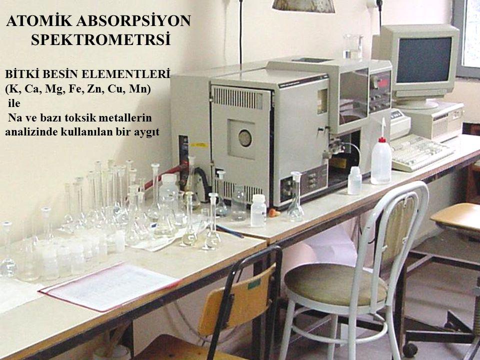 ATOMİK ABSORPSİYON SPEKTROMETRSİ BİTKİ BESİN ELEMENTLERİ (K, Ca, Mg, Fe, Zn, Cu, Mn) ile Na ve bazı toksik metallerin analizinde kullanılan bir aygıt