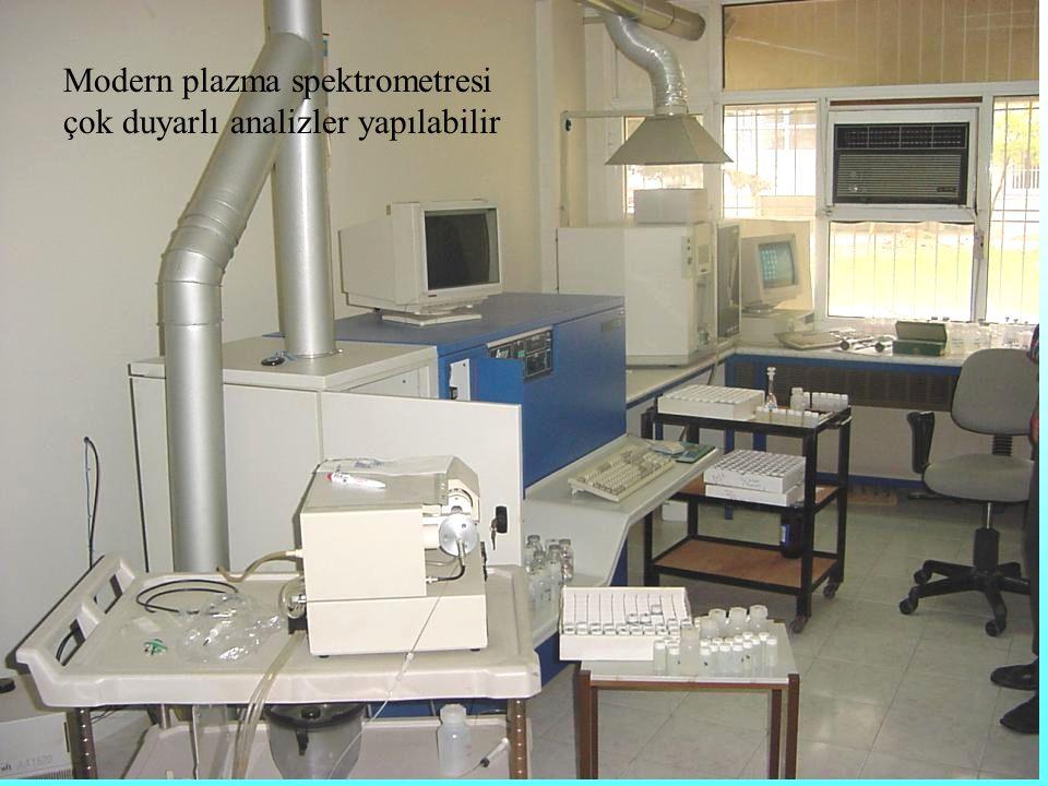 Modern plazma spektrometresi çok duyarlı analizler yapılabilir