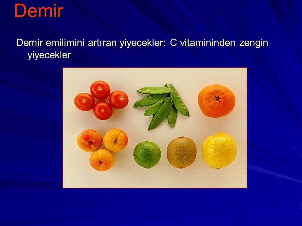 Demir Demir emilimini artıran yiyecekler: C vitamininden zengin yiyecekler