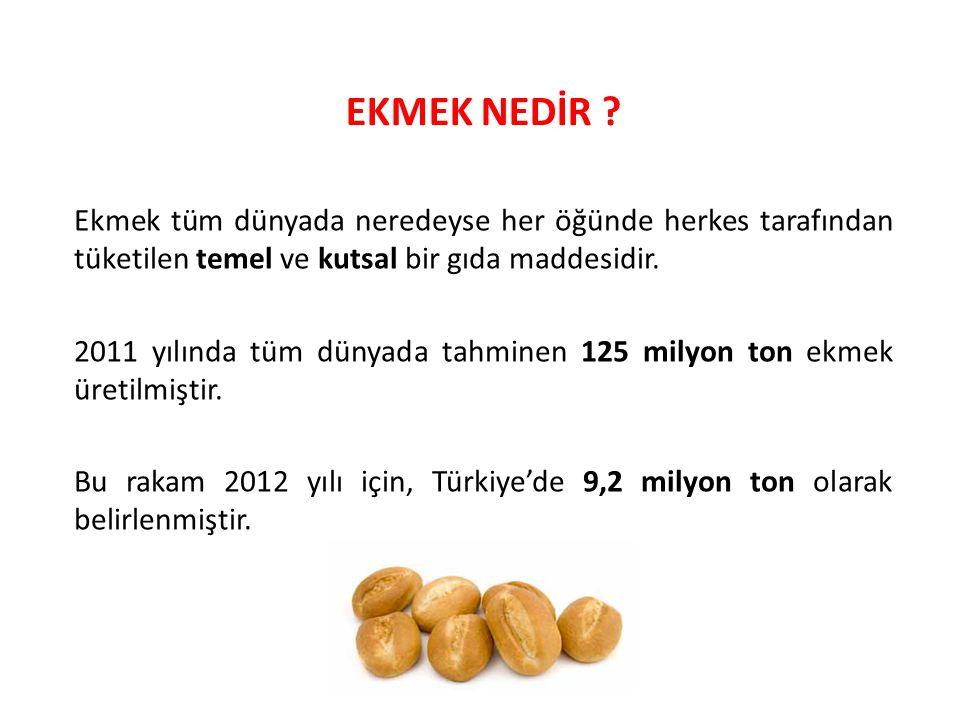 Türkiye'deki; –Ekmek üretim ve tüketim miktarlarını, –Tüketim alışkanlıklarını, –Ekmek israfını, –İsrafın nerelerde ve ne şekilde gerçekleştiğini ortaya koymak.