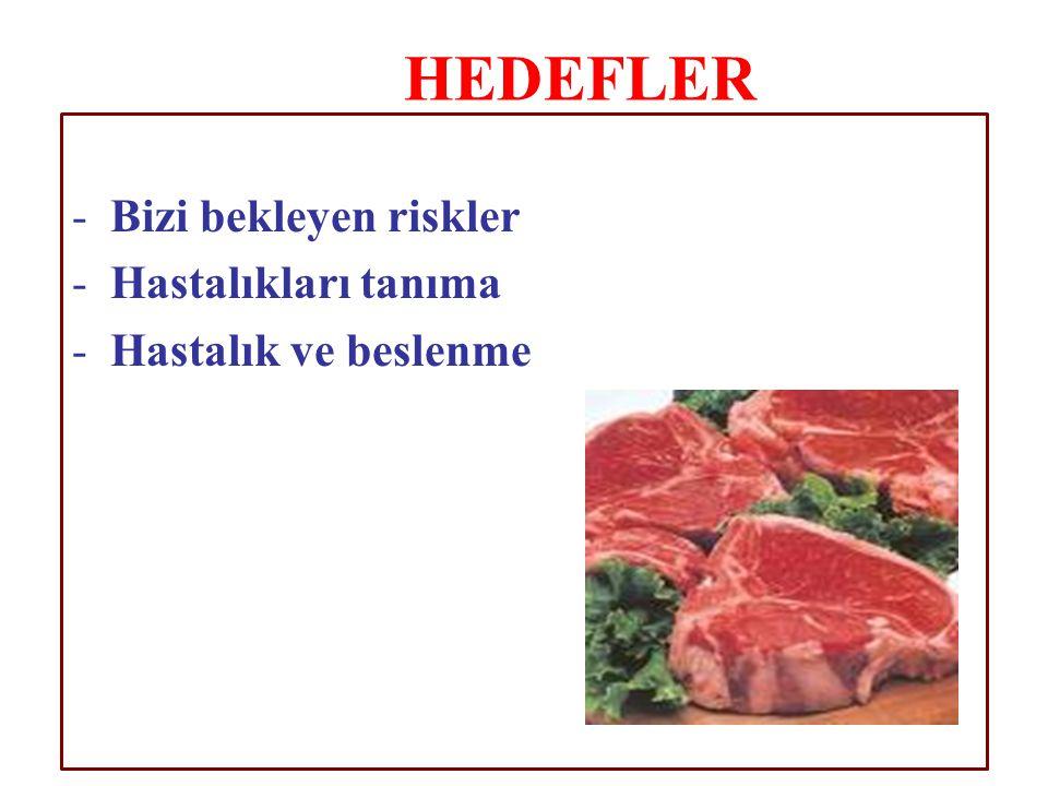 -6- 13- Balık, tavuk ve hindiyi (derileri alınmış) kırmızı ete tercih edilmelidir.