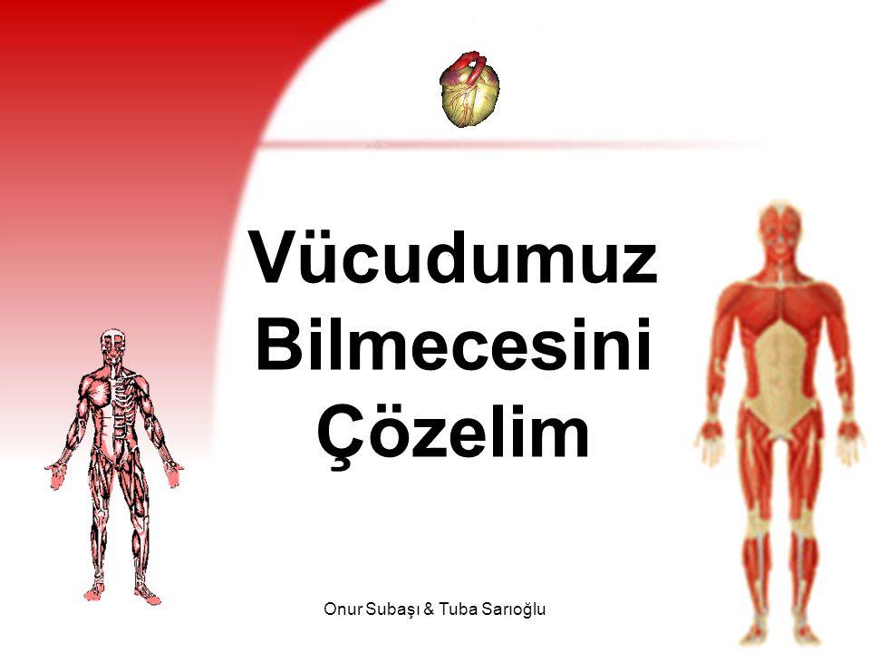 Onur Subaşı & Tuba Sarıoğlu42 Su ( devam ) Su, yediğimiz gıdalardaki besin öğelerinin çözünüp sindirilmesi ve emilmesi, vücut sıcaklığının ayarlanması ve vücuttan atık maddelerin uzaklaştırılmasını sağlar.