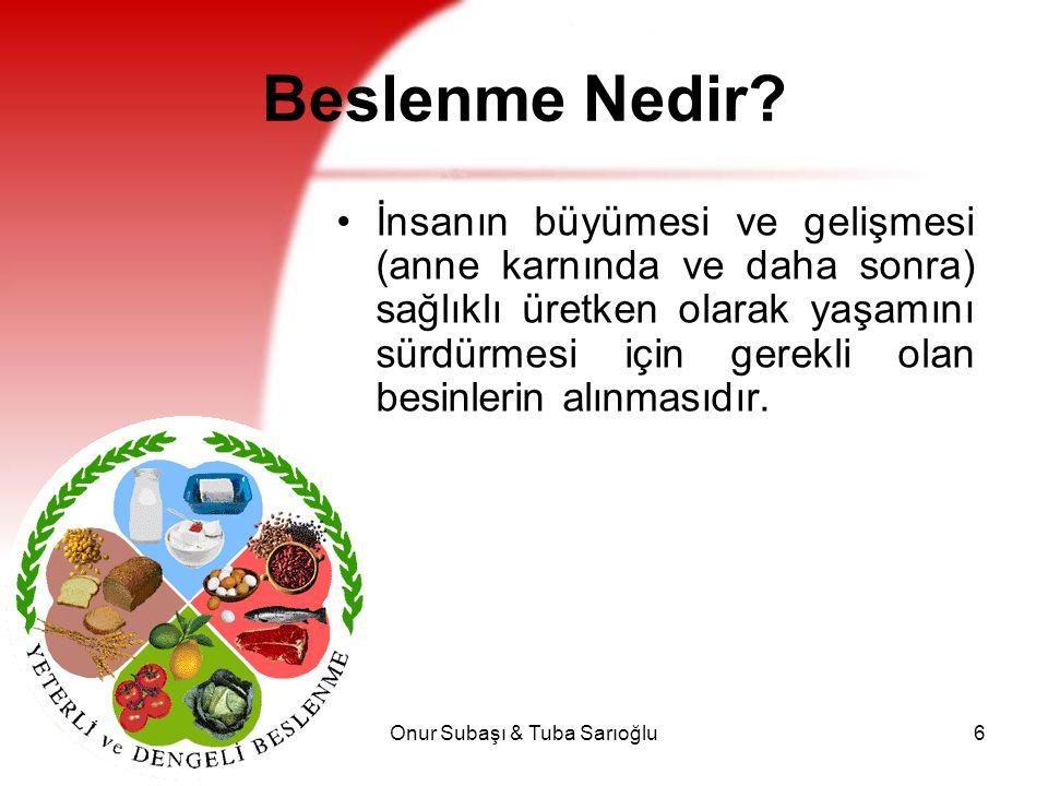Onur Subaşı & Tuba Sarıoğlu7 Beslenme Nedir.