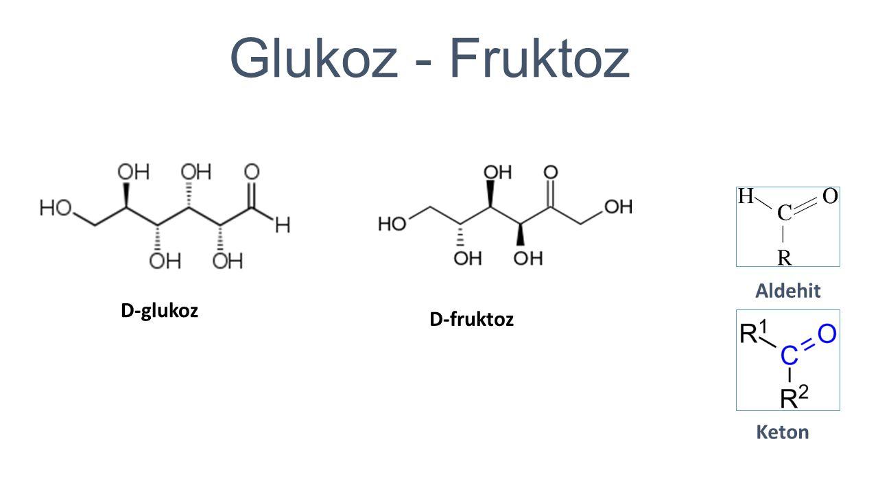 Glukoz - Fruktoz Aldehit Keton D-glukoz D-fruktoz