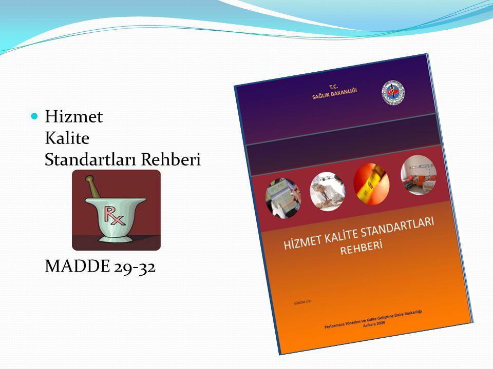 Hizmet Kalite Standartları Rehberi MADDE 29-32