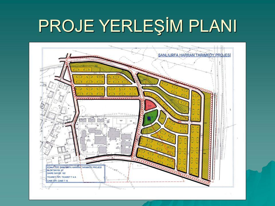 PROJE İÇERİĞİ Alanda,  162 adet konut  1 adet Ticaret Merkezi,  1 adet Cami  Yeşil alanlar  Proje içi yollar