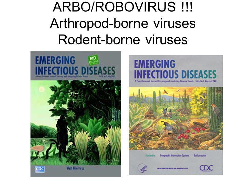 ARBO/ROBOVIRUS !!! Arthropod-borne viruses Rodent-borne viruses