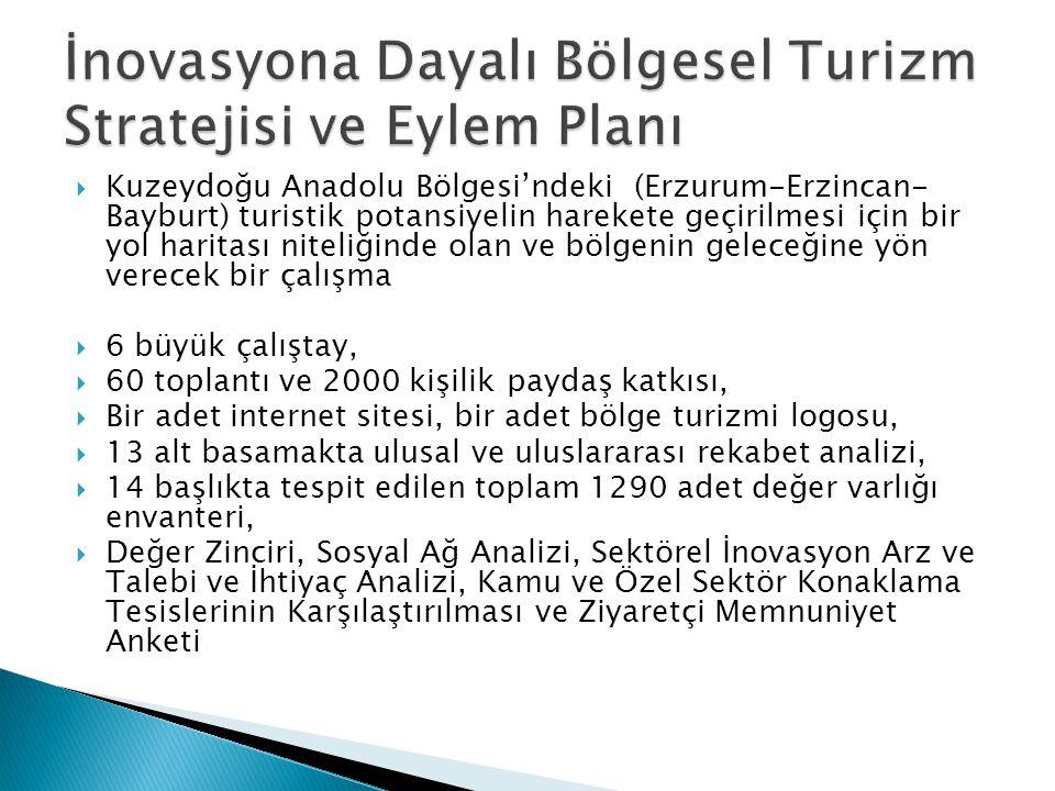 Kuzeydoğu Anadolu Bölgesi'ndeki (Erzurum-Erzincan- Bayburt) turistik potansiyelin harekete geçirilmesi için bir yol haritası niteliğinde olan ve böl