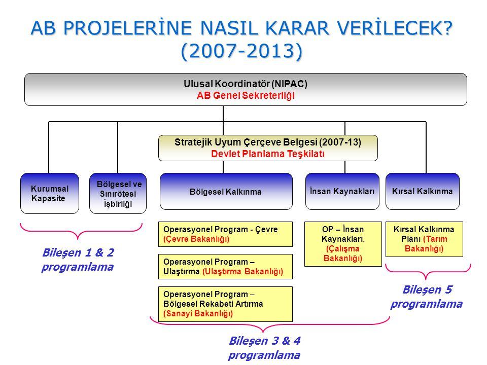Stratejik Uyum Çerçeve Belgesi (2007-13) Devlet Planlama Teşkilatı Bileşen 1 & 2 programlama Bölgesel Kalkınma Kurumsal Kapasite Bölgesel ve Sınırötes