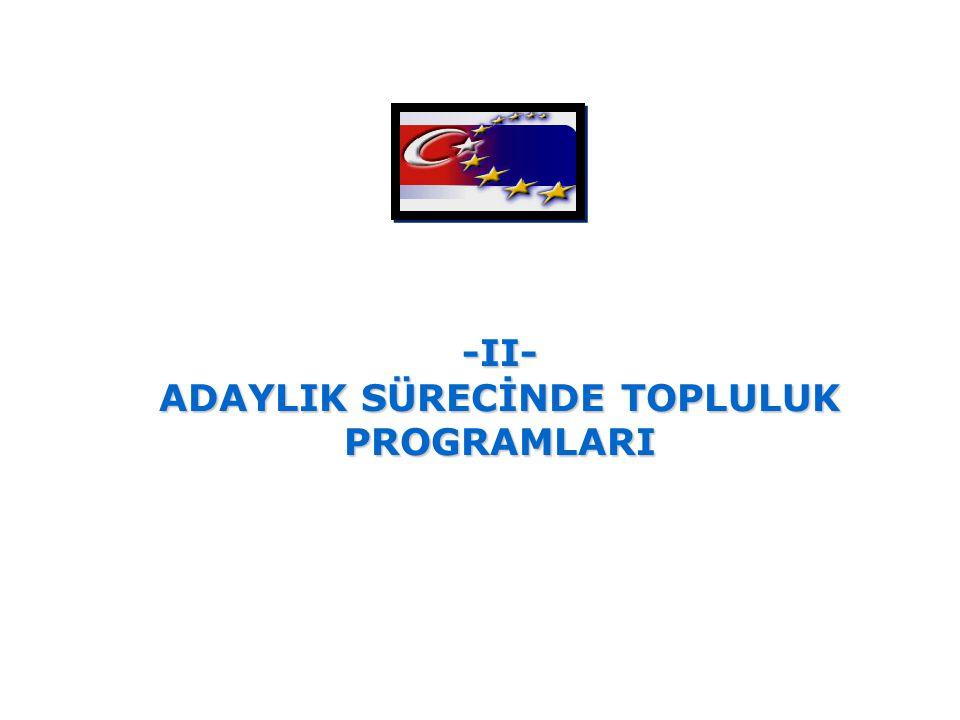 -II- ADAYLIK SÜRECİNDE TOPLULUK PROGRAMLARI