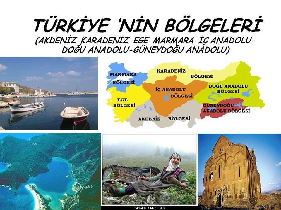 AKDENİZ Bölge adını komşu olduğu Akdeniz'den alır.