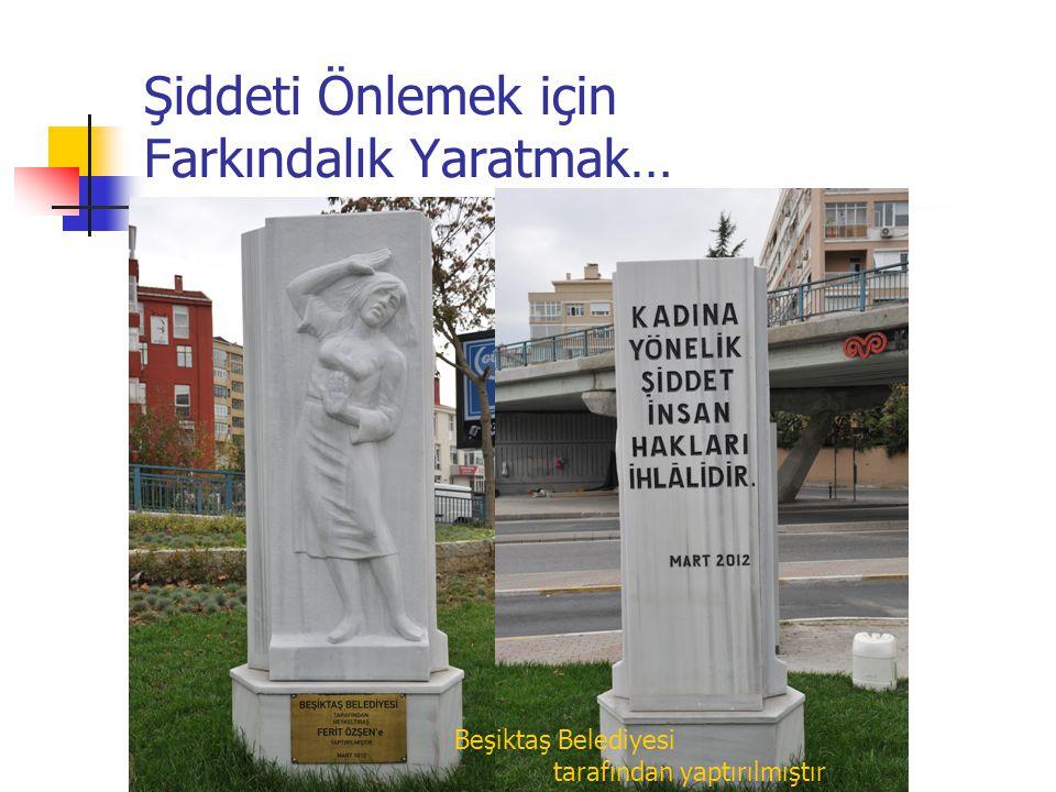 Şiddeti Önlemek için Farkındalık Yaratmak… Beşiktaş Belediyesi tarafından yaptırılmıştır