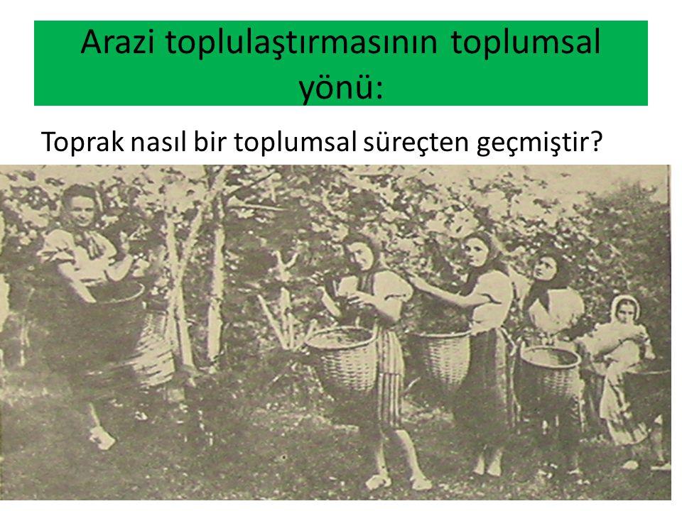 Arazi toplulaştırmasının toplumsal yönü: Toprak nasıl bir toplumsal süreçten geçmiştir?