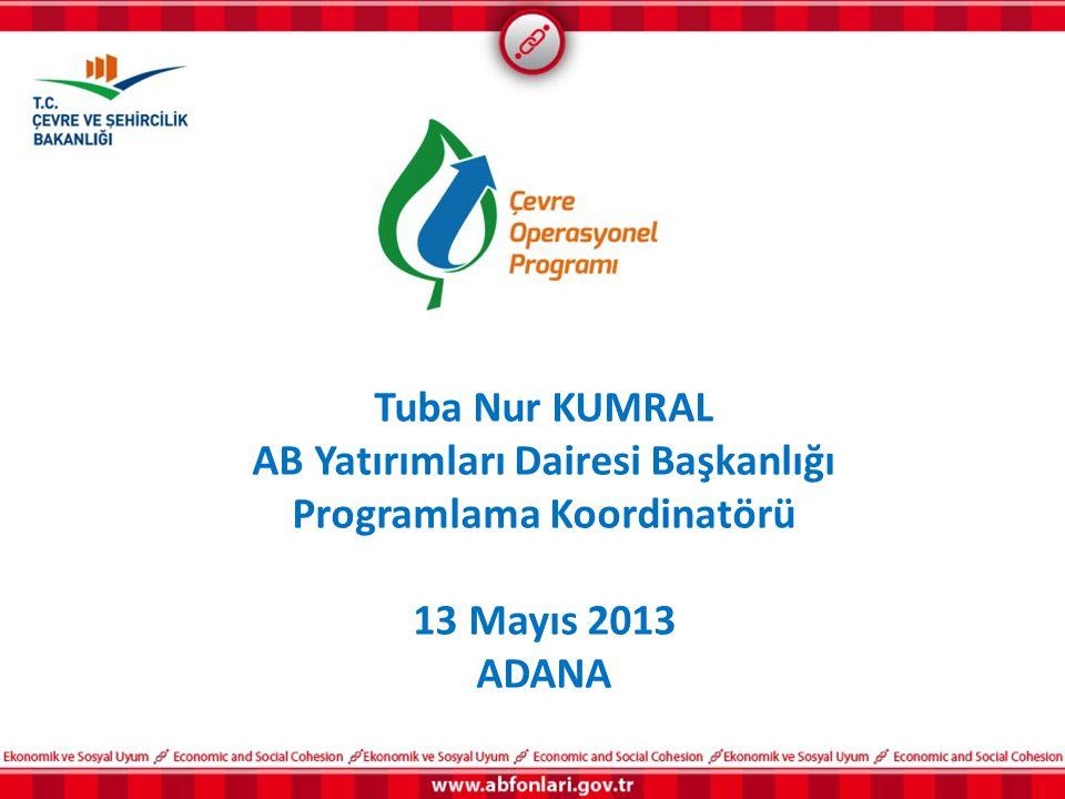 Tuba Nur KUMRAL AB Yatırımları Dairesi Başkanlığı Programlama Koordinatörü 13 Mayıs 2013 ADANA