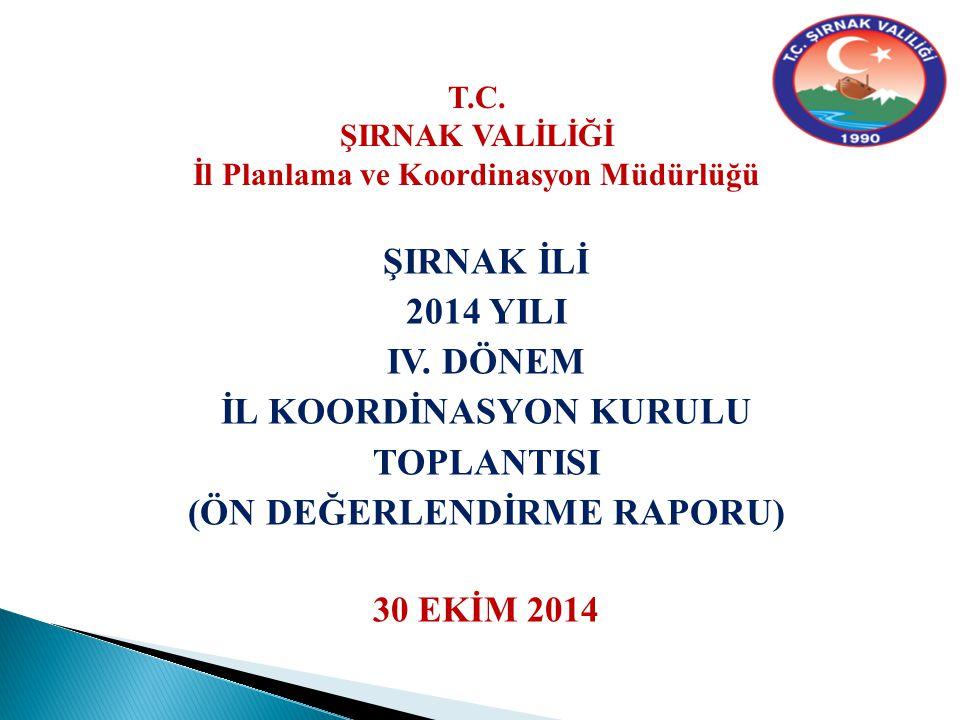 ŞIRNAK İLİ 2014 YILI IV.
