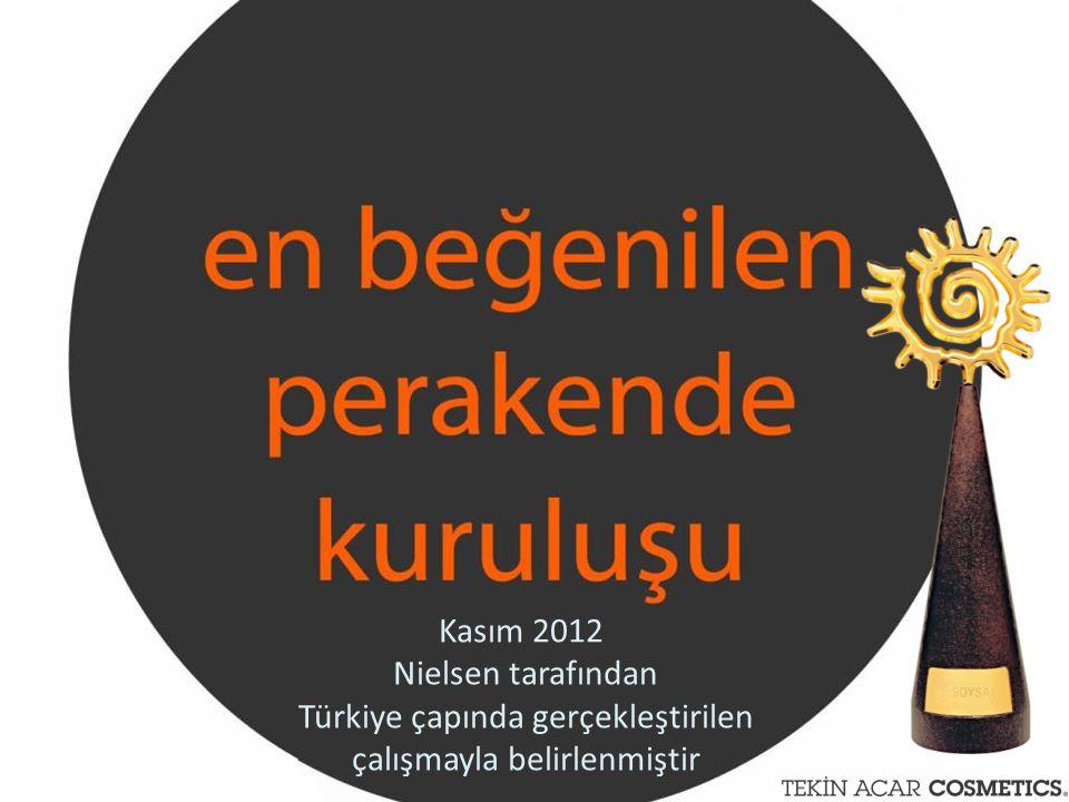 Kasım 2012 Nielsen tarafından Türkiye çapında gerçekleştirilen çalışmayla belirlenmiştir