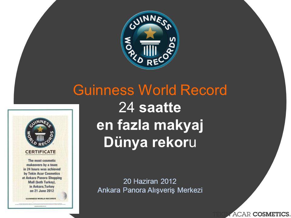 Guinness World Record 24 saatte en fazla makyaj Dünya rekoru 20 Haziran 2012 Ankara Panora Alışveriş Merkezi