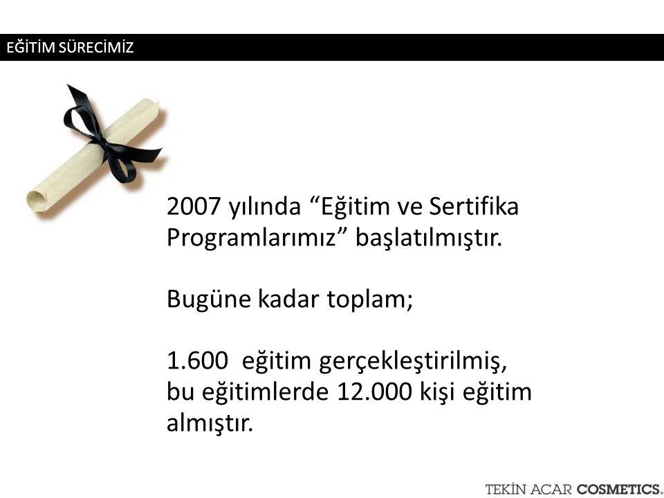 """2007 yılında """"Eğitim ve Sertifika Programlarımız"""" başlatılmıştır. Bugüne kadar toplam; 1.600 eğitim gerçekleştirilmiş, bu eğitimlerde 12.000 kişi eğit"""